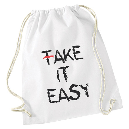 Turnbeutel / Stoff-Rucksack Fake it easy